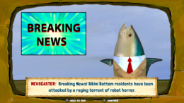 Breaking news channel in Battle for Bikini Bottom - Rehydrated video game.png