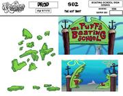 Mrs-Puff-Boating-School-sign-debris-model