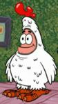 Patrick Wearing His Feather Friends Uniform