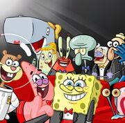 Spongebob-squarepants-cast-selfie-nickelodeon-27th-annual-kids-choice-awards-2014-nick-nicktoons-nicktoon-kca-sbsp