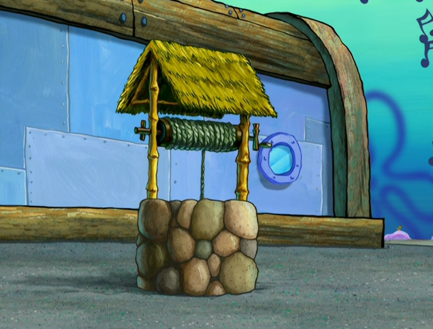 The Eugene Krabs Memorial Wishing Well