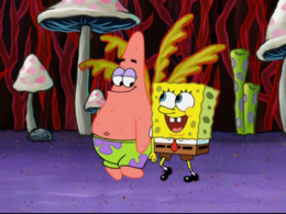 SpongeBob is missing an arm error in A SquarePants Family Vacation.png