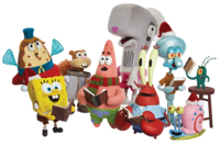 SpongeBob Christmas characters group stock image