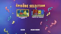 Bikini Bottom Bash DVD episode selection screen 2