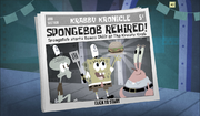 SpongeBob, You're Fired! (online game) - SpongeBob rehired!