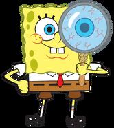 SpongeBob with magnifying glass stock art