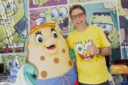 Tom-Kenny-and-Mrs-Puff-mascot