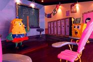 SpongeBob-and-Mrs-Puff-statues-classroom