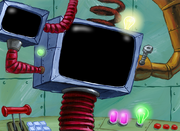 Welcome to the Chum Bucket kitchen screen background art