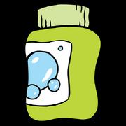 Closed bubble jar stock art