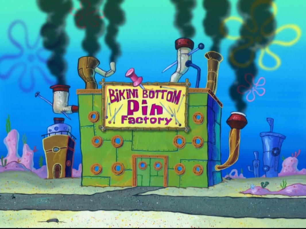 Bikini Bottom Pin Factory
