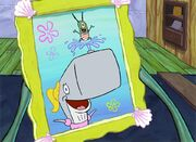 Pearl and Mr Plankton photo production art