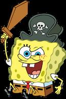 Pirate SpongeBob stock art