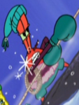 Mr. Krabs Wearing His Winter Outfit