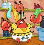 Mr. Krabs as a Diaper Princess