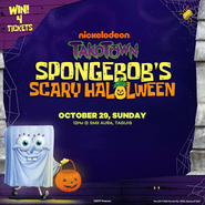 Takotown-SpongeBob-SquarePants-Scary-HaLOLween-Nickelodeon-Philippines-Nick-South-East-Asia-SEA-Halloween-Promo-Flyer-2017-SpongeBob-SquarePants-In-Ghost-Costume-