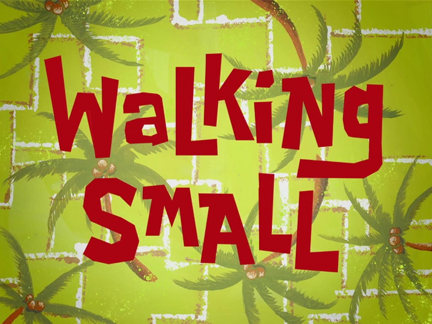 Walking Small