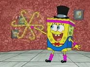 SpongeBob with cane