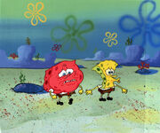 Spongebob Sweating Animation Cel 14