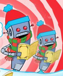 Plankton's robot carolers