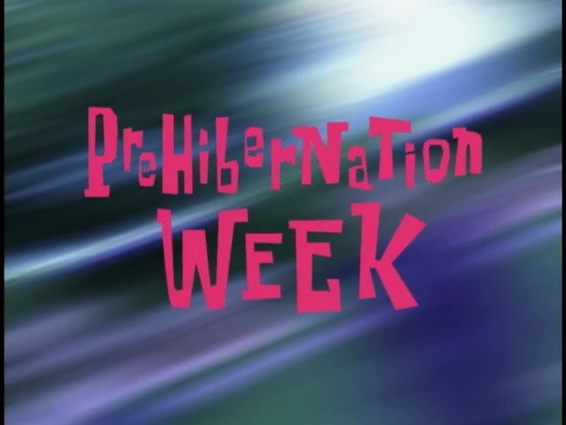 Prehibernation
