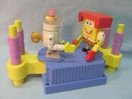 Sandy and SpongeBob fighting toy