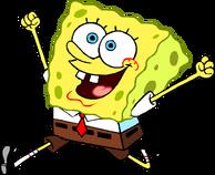 SpongeBob excited stock art