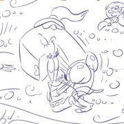SpongeBob-Mr-Krabs-Pearl-hugging-sketch