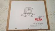 SPONGEBOB-ORGINAL-SKETCH-Signed-TODD-WHITE-Episode-Hall- 57