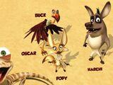 Oscar, Poppy, Buck and Harchi