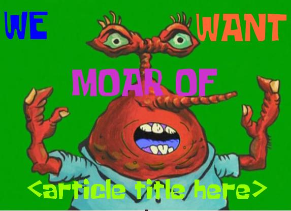We Want Moar Awards