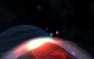 Trzy gazowe olbrzymy widoczne z księżyca