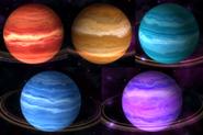 Kolory gazowych olbrzymów