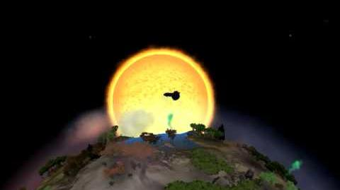 Destroying a Planet In Spore