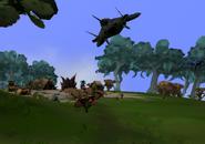 Disco voador no estagfio tribal do spore