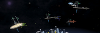 Planet Capitol of Koerband Space docks