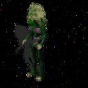 Humanoid female green skinned