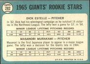 1965 Topps 282 Back