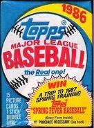 1986 Topps Pack