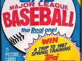 1986 Topps Baseball