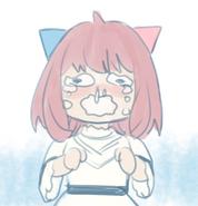 Sad Anya Illustration
