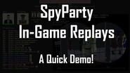 SpyParty In-Game Replays Trailer