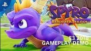Spyro Reignited Trilogy Демонстрация Геймплея на PS4