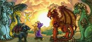 Spyro Cynder Sparx Guardians GBA