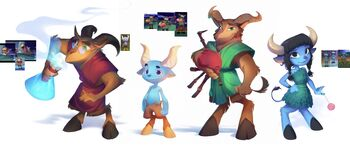 """<i>Spyro Reignited Trilogy</i> concept art of the Alchemist along with the other faun characters by <!--LINK'"""" 0:0-->"""