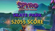 Spyro Reignited Enchanted Towers Skate Park (52055 Score)