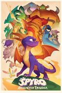 Spyro Animated Style Poster
