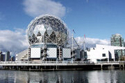 Geodesic dome of Telus World of Science built as Expo Centre for Expo 86. Vancouver.jpeg