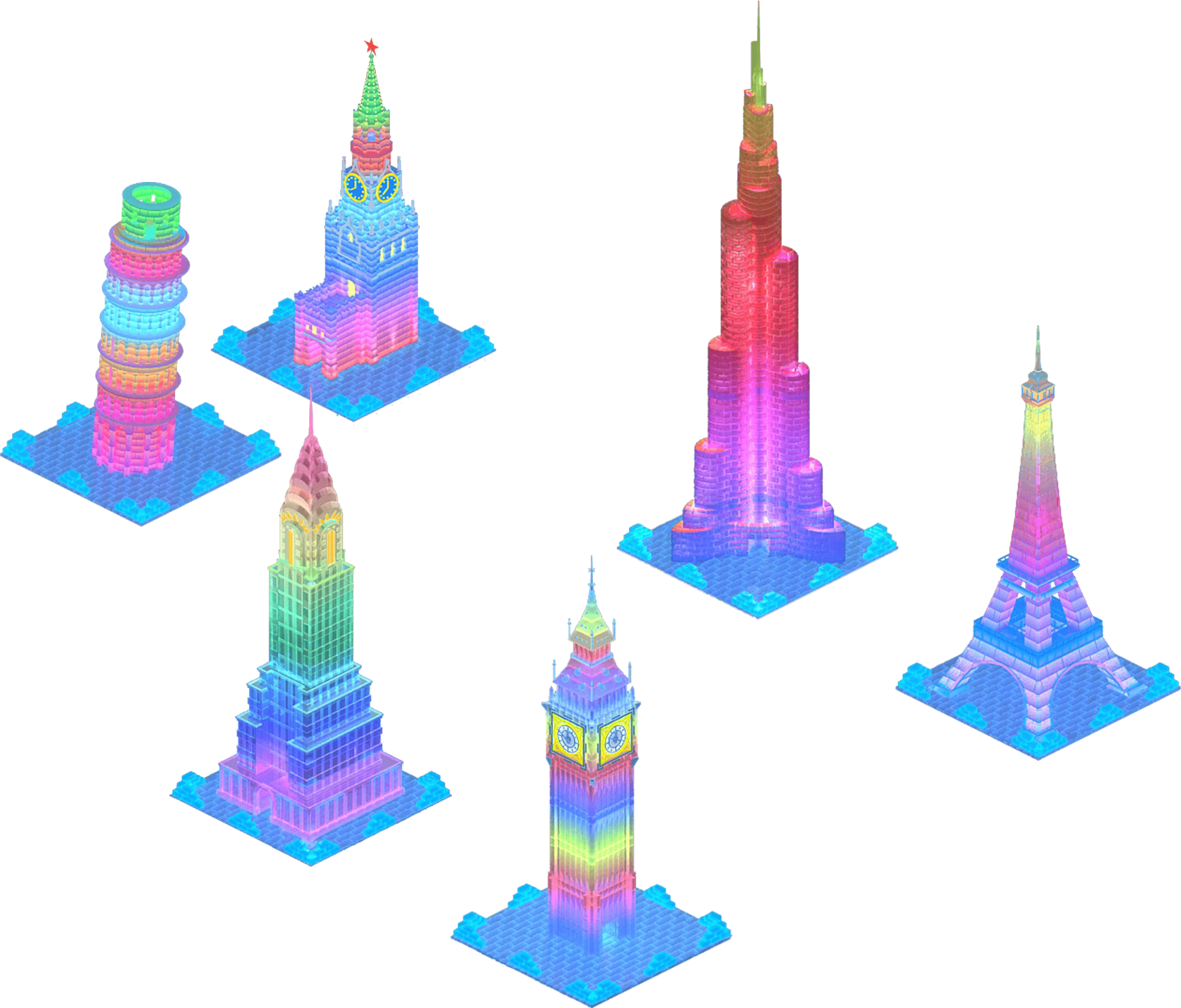 Ice Towers of the World