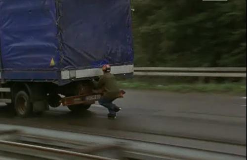 Pattini in autostrada